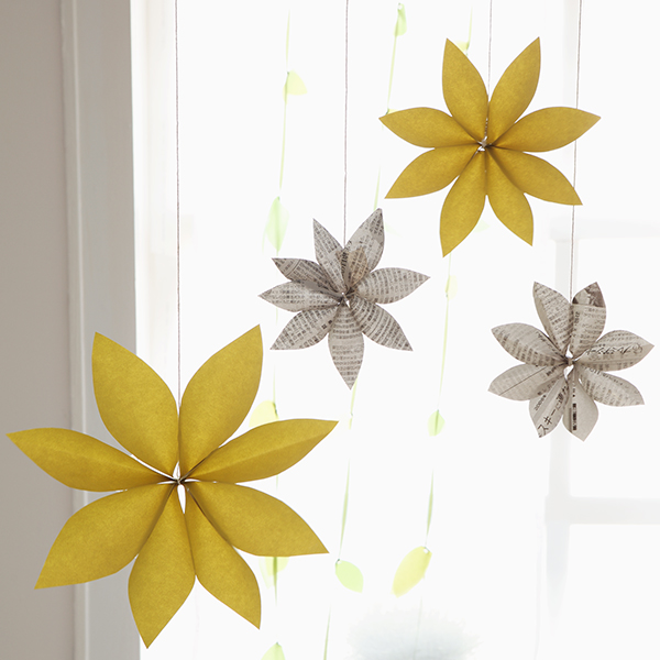 diy party decorations paper flower chandeliers - Spring Party Decorating Ideas