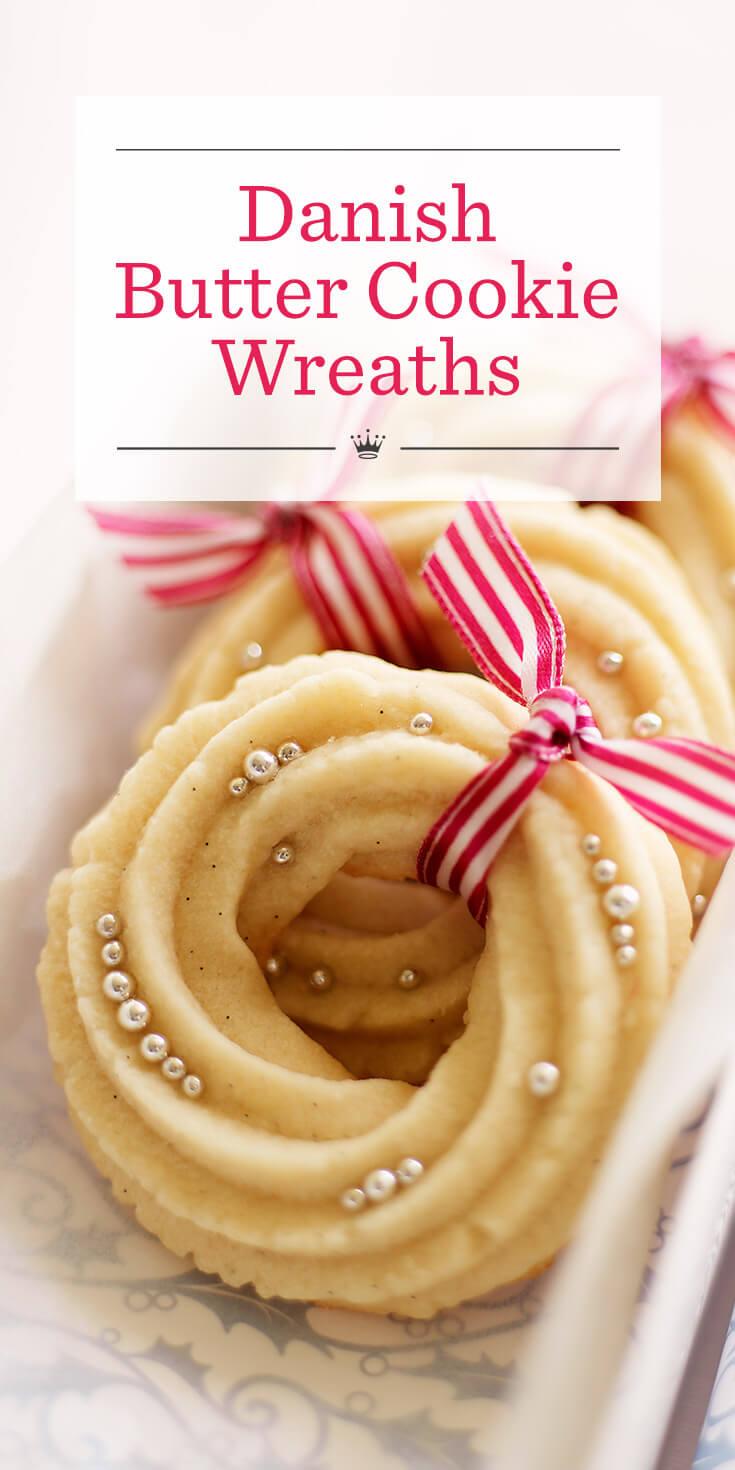 Danish Butter Cookie Wreaths