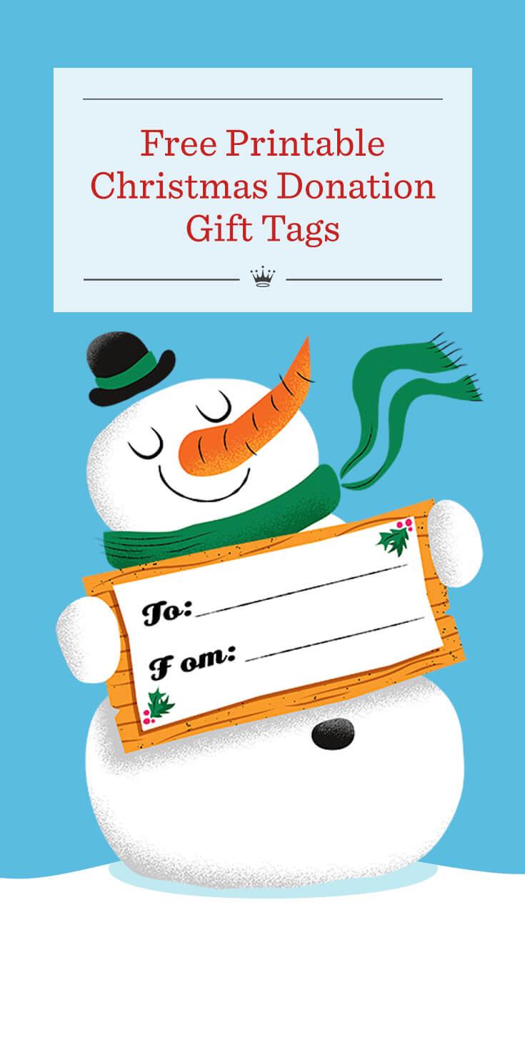 Free Printable Christmas Donation Gift Tags   Hallmark Ideas ...