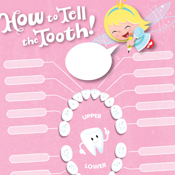 photo about Baby Teeth Chart Printable titled Enamel Fairy Printables: Missing Teeth Chart Hallmark Strategies