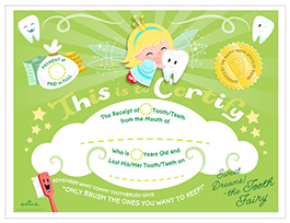 graphic regarding Free Printable Tooth Fairy Certificate named Enamel Fairy Certification Hallmark Programs Enthusiasm
