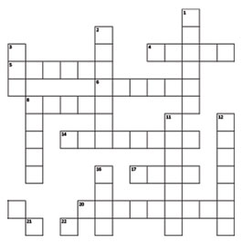 Halloween Crossword Puzzle Printable