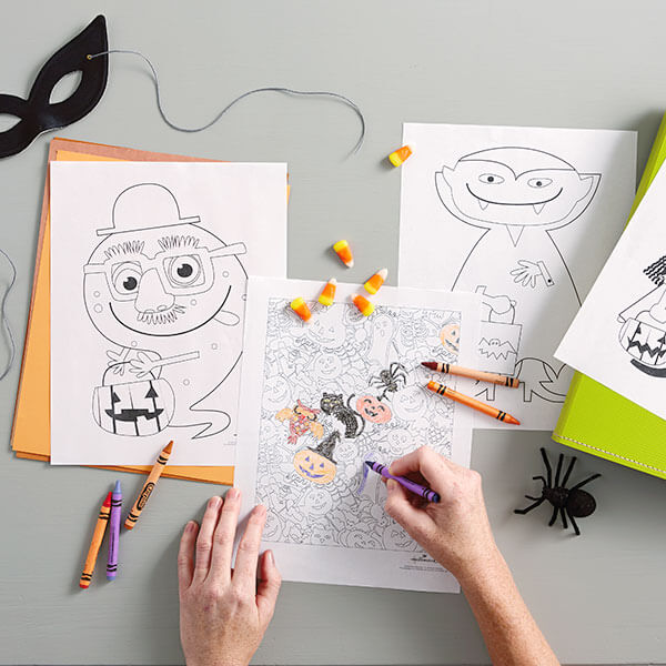 Halloween Coloring Pages Hallmark Ideas & Inspiration