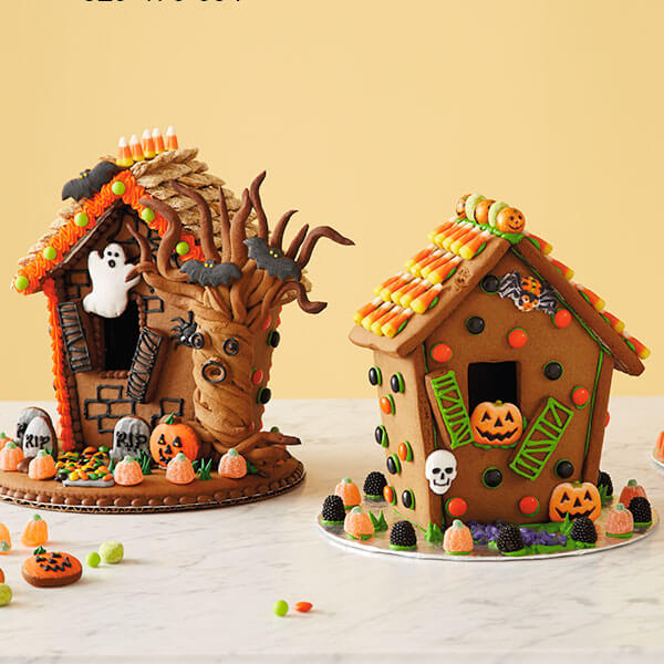 Halloween Gingerbread Houses