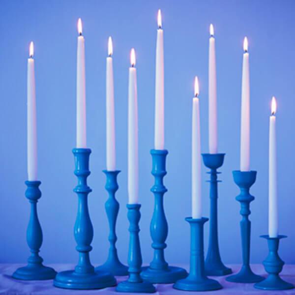 Blue hanukkah menorah crafts