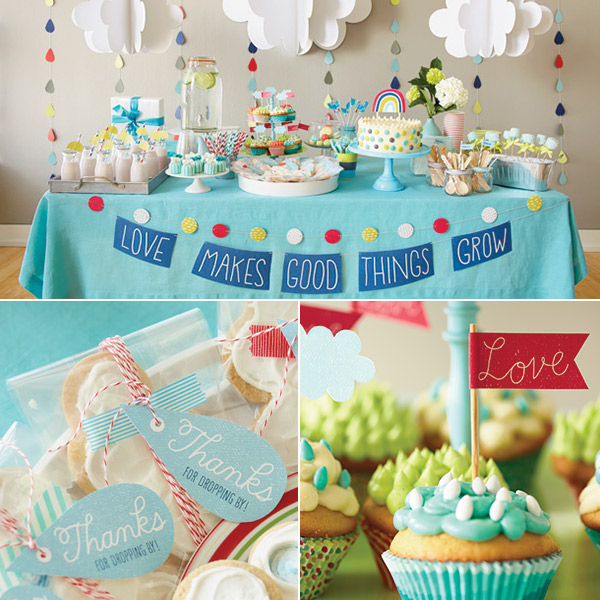 DIY baby shower decorations: love makes good things grow baby shower theme