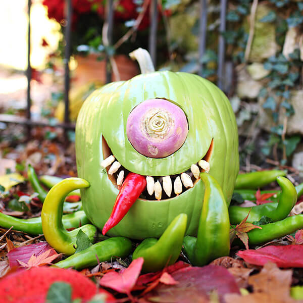 Creative Pumpkin-Carving Ideas: Monstroctopus