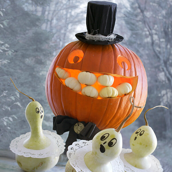Creative Pumpkin-Carving Ideas: Mr. Pumpkin & Damsels in Distress