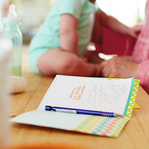 New Baby Wishes What To Write In A Baby Card Hallmark Ideas