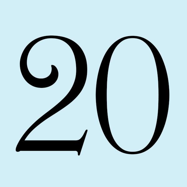 Twentieth anniversary gifts