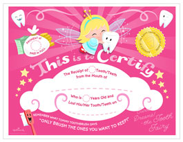 image about Tooth Fairy Printable titled Teeth Fairy Certification Hallmark Programs Commitment