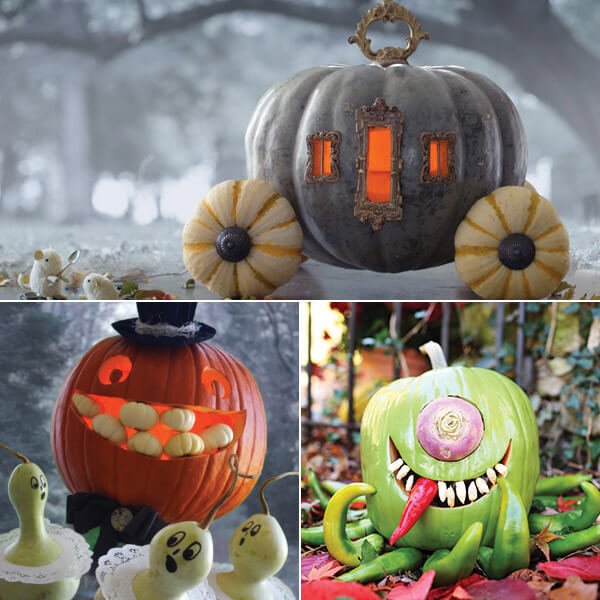 A fantasy of pumpkins: 10 creative pumpkin-carving ideas