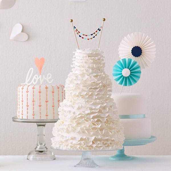 DIY Wedding Cake Toppers & Printables