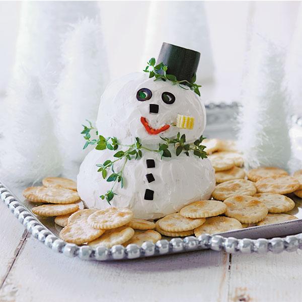 Snowman Cheese Ball Recipe Hallmark Ideas Amp Inspiration