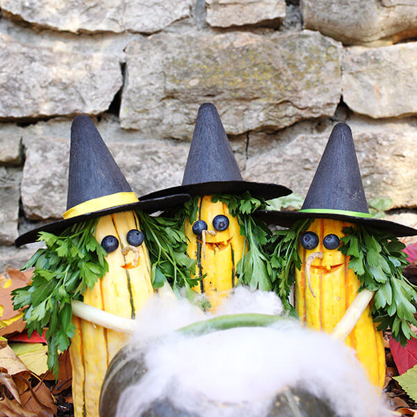 Creative Pumpkin-Carving Ideas: Something Wicked Trio