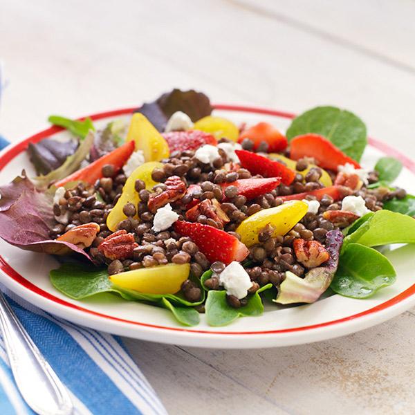 Strawberry & Lentil Salad Recipe