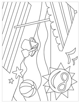 Summer Coloring Pages For Kids Just Beachy