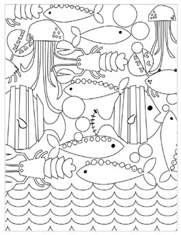 Summer Coloring Pages For Kids Underwater Creatures