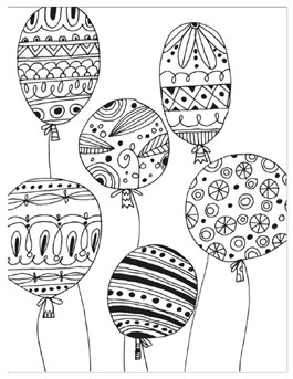 Summer Coloring Pages For Adults Balloons