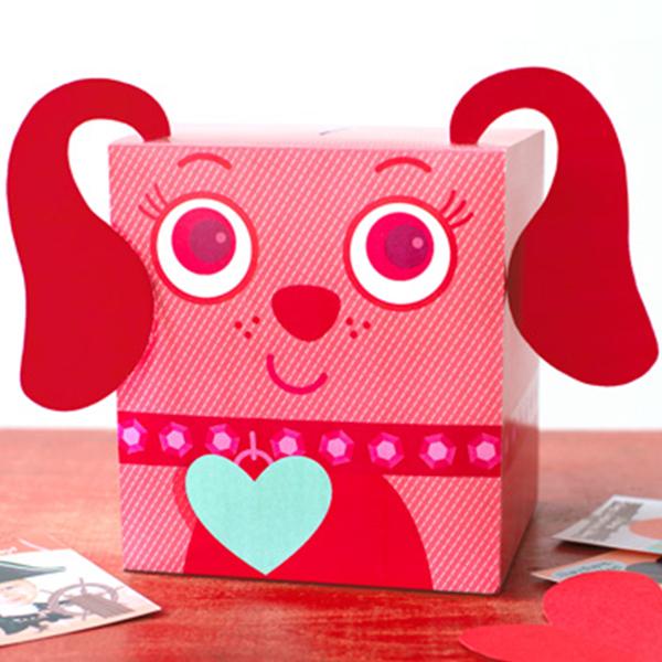 Außergewöhnlich DIY Valentine Box: Playful Pup