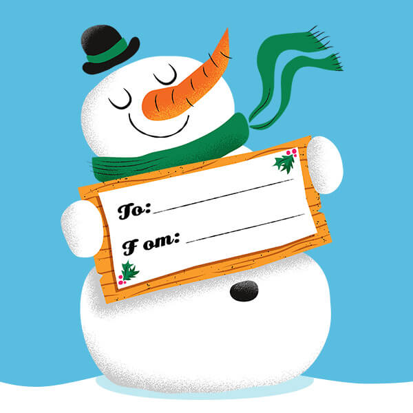 Free printable Christmas donation gift tags