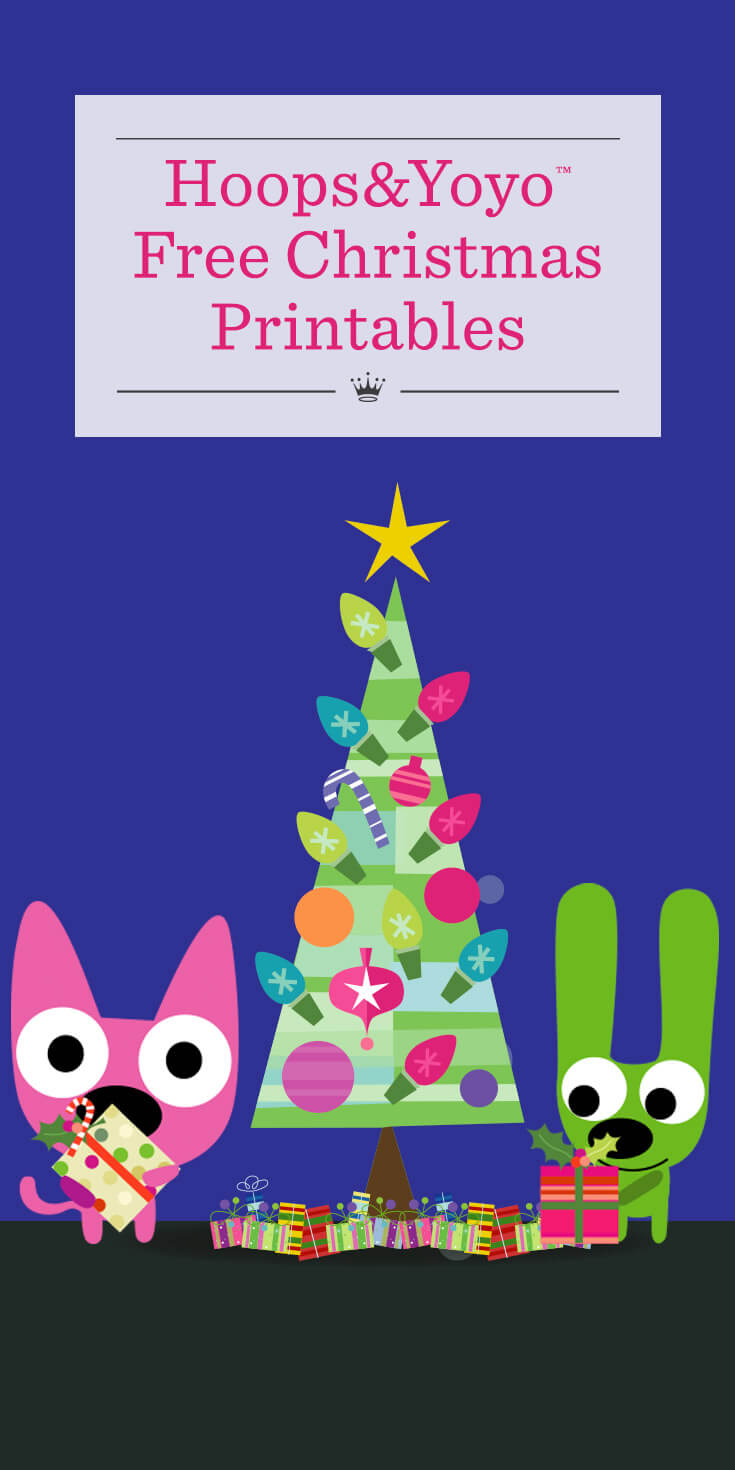 Free Christmas Printables From Hoops And Yoyo Hallmark Ideas