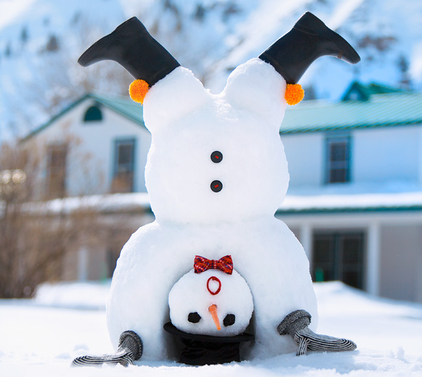 How to build an upside-down snowman