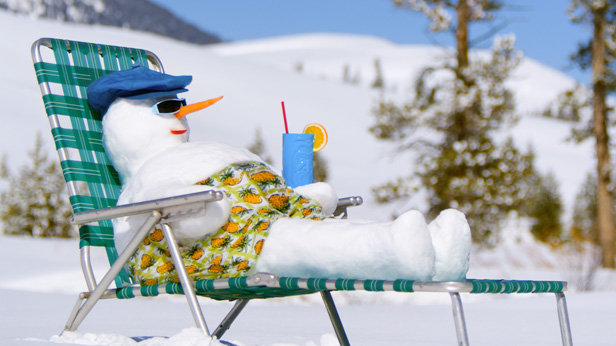 How to build a snowbird snowman