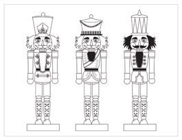 printable christmas coloring page nutcrackers