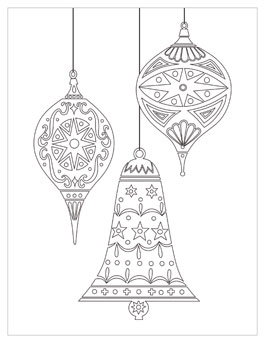 printable christmas coloring page ornaments