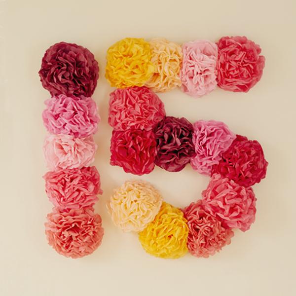 15 in flowers