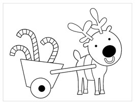 printable christmas coloring page reindeer