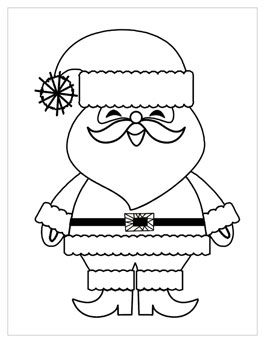 Printable Christmas Coloring Page Santa