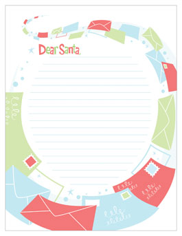printable santa letter template flying letters
