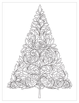 Christmas coloring pages on Coloring-Book.info | 343x265