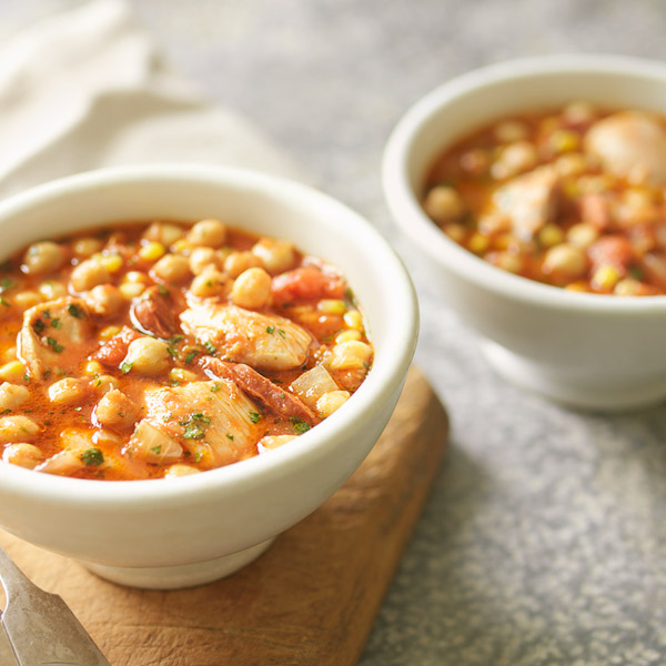 Chicken and chickpea stew