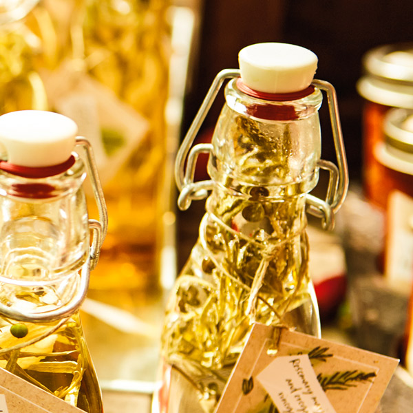 Herb-infused vinegars