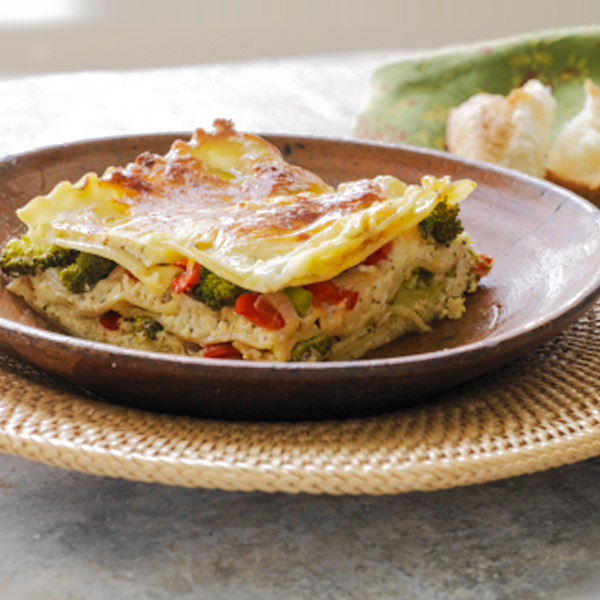 Vegetable lasagna with white sauce recipe