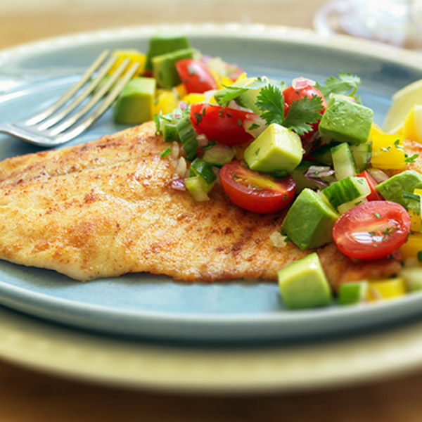Broiled Tilapia with Avocado Salsa Recipe