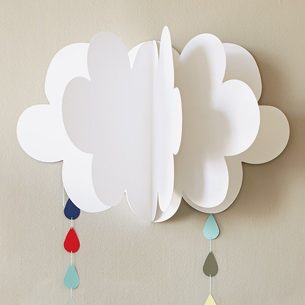 Fluffy clouds diy baby shower decorations hallmark ideas for Baby shower decoration templates