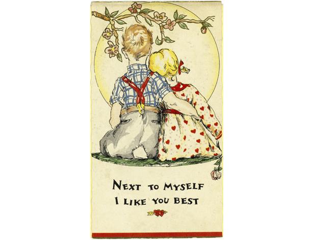 valentines day cards through the years 1930s depression days valentine