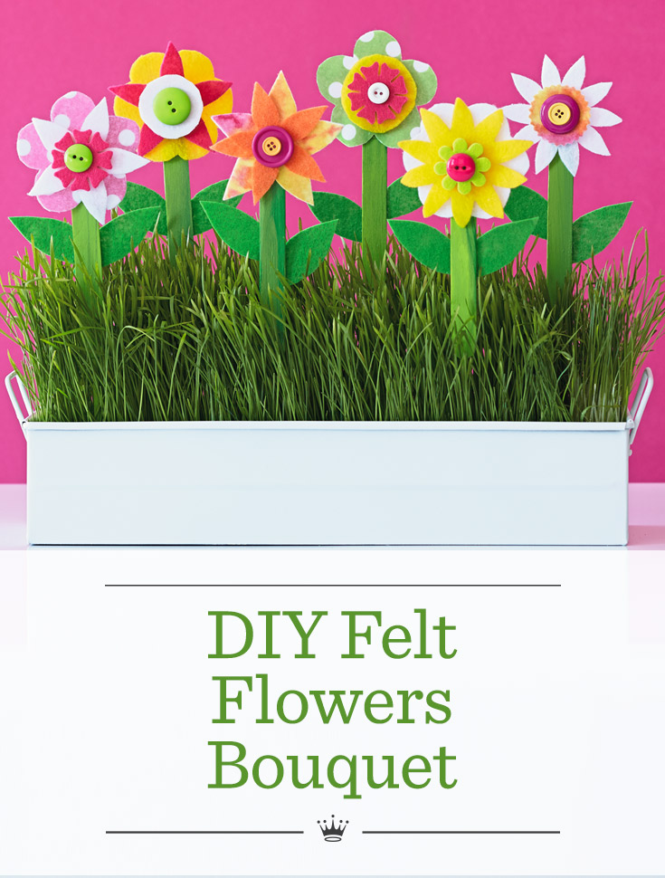 DIY Felt Flowers Bouquet | Hallmark Ideas & Inspiration