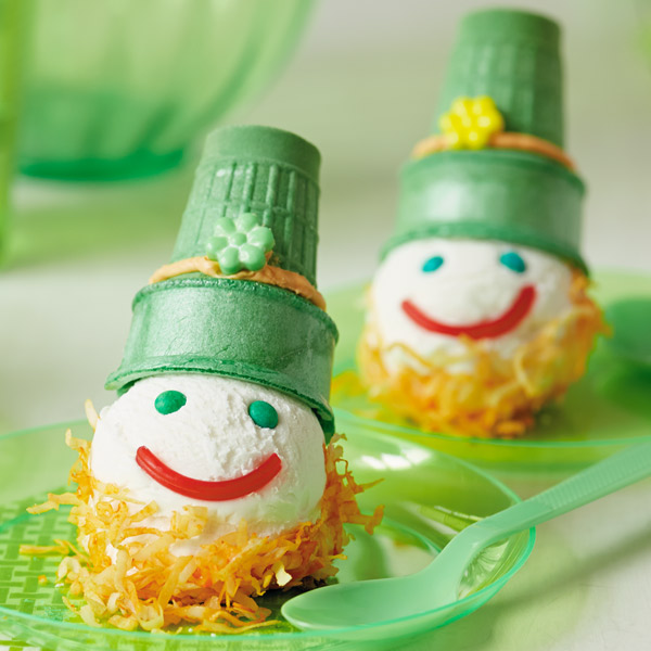 Happy Lepre-cones St. Patrick's Day dessert recipe