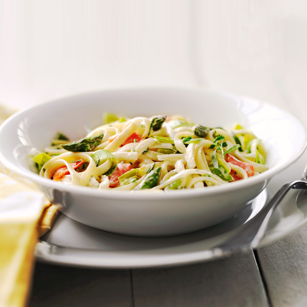 Pasta with Asparagus and Smoked Salmon Recipe