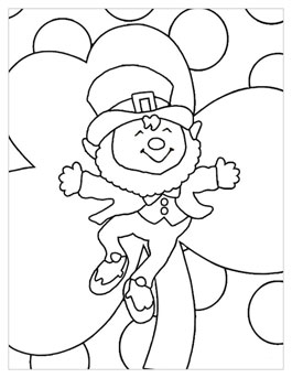 free printable st patricks day coloring pages leprechaun