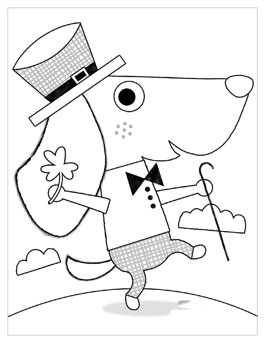 Free Printable St. Patricku0027s Day Coloring Pages: Puppy Parade