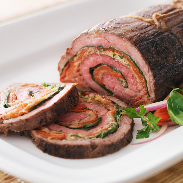 Stuffed flank steak recipe