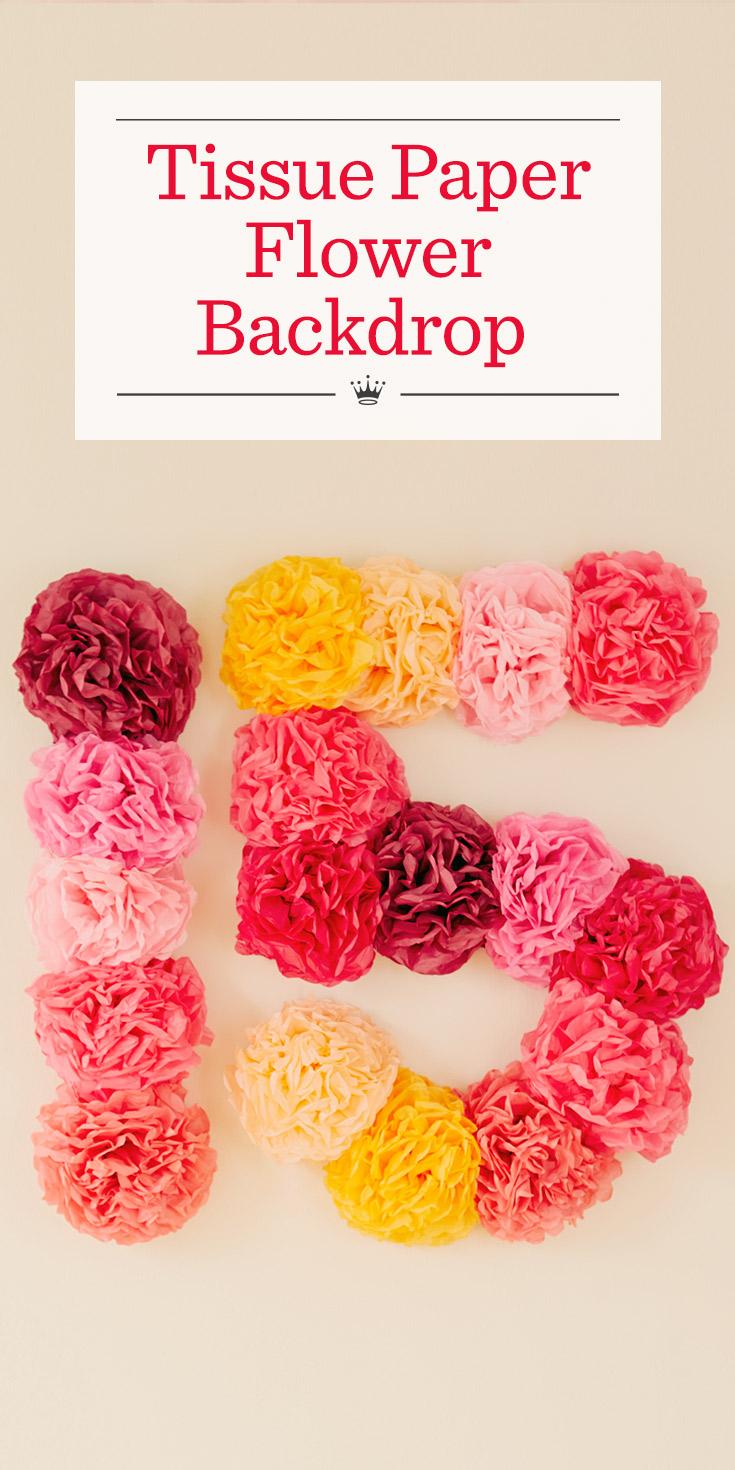 Tissue Paper Flower Backdrop Hallmark Ideas Inspiration