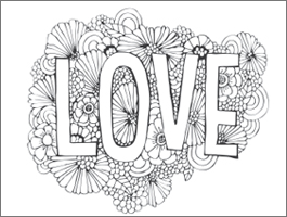 Lovely Valentineu0027s Day Adult Coloring Page: Love Blooms