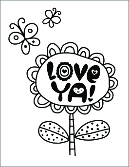 Fun (and free) Valentine's Day coloring pages